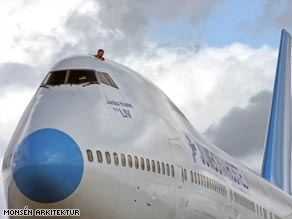 Budget with a twist: a former Pan Am Boeing 747 has been transformed into a hostel in Stockholm, Sweden.