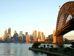 There's no mistaking the city of Sydney -- fine weather means you may struggle to see a cloud in the sky.