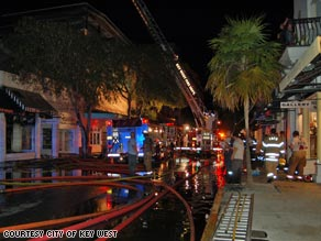 A fire broke out late Sunday night on Duval Street in Key West.