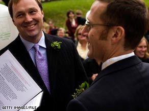 Wedding planners have seen a surge in same-sex couples traveling to New England to tie the knot.