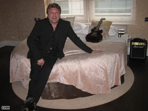 "Entrepreneur Mark Fuller in the Sanctum Soho hotel, a rock'n'roll ""haven of hedonism"" in London."