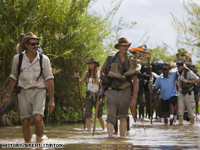The group traveled 970 miles across Tanzania, through jungle, mountains, rivers and swamps.