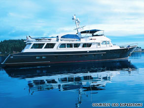 The 100-foot Katania normally would attract an additional $49,500 charter fee for a week's use.