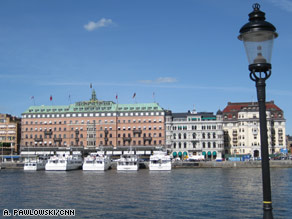 Stockholm's 14 islands are connected by 57 bridges. The city's opera stands in the foreground on the left.