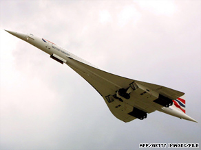 A British Airways Concorde takes off from London's Heathrow Airport in 2001. The fleet was retired in 2003.