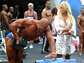 Don't miss the Mr and Mrs Muscle Beach competition on Venice Beach