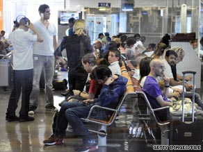 Fewer travelers mean less air traffic and a fall in flight delays, statistics show.