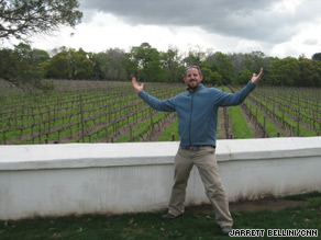 CNN.com's Jarrett Bellini tours vineyards outside Cape Town, South Africa.