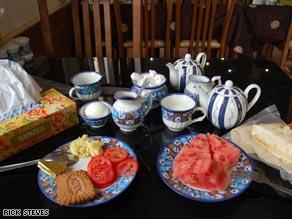 At Iranian restaurants, a box of Kleenex is always on the table, the bread is bagged to keep out dust and juicy watermelon graces every meal.