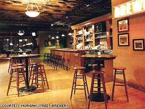 Morgan Street Brewery is in Laclede's Landing, an area crowded with bars and clubs.