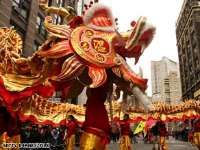 A Chinese New Year parade in Manhattan's Chinatown is scheduled for February 1.