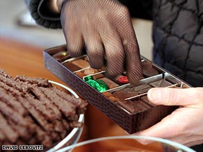 Luxury Paris chocolate tour participants are likely to taste sweets from chocolatiers such as Jean-Charles Rochoux.