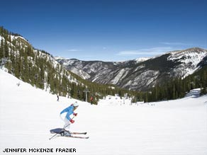Taos Ski Valley usually has the best snow in the state.