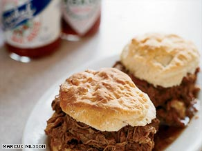 A classic meat biscuit at Mother's