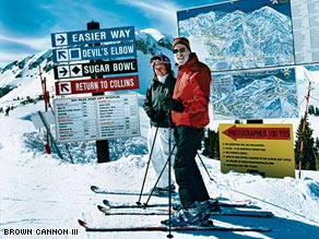 Didi and Jeff Linburn on the slopes