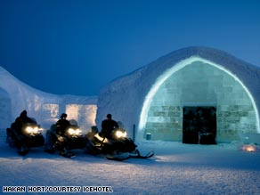 The hotel in northern Sweden opens every year in early December and closes at the end of April.