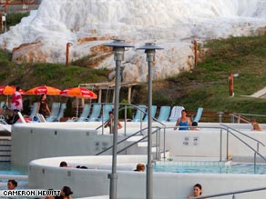 The new Salt Hill Thermal Spa complex outside of Eger, Hungary, offers a fun watery getaway.