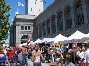 The Ferry Plaza Farmers Market is held on Tuesdays and Saturdays.