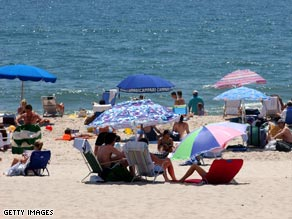 The Hamptons, a traditional summer spot for the rich and famous, is feeling the pinch of the recession.
