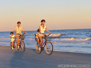 Hilton Head Island's relaxed atmosphere is ideal for families.