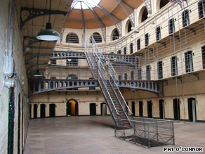 The central courtyard of the Kilmainham Jail is a shrine for today's Irish patriots.