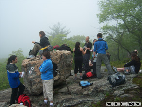 Hike participants meet in Manhattan to travel north of the city for a day's outing.