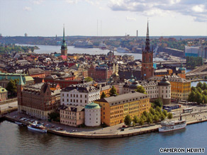 Located on the Baltic Sea, Stockholm is one-third water, one-third parks, one-third city.