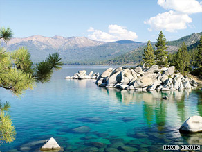 With clear blue water and picturesque boulders, Sand Harbor is the place to swim in Lake Tahoe.