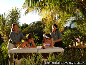 Spa time at the Hawks Cay Resort in Florida