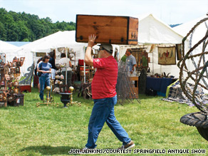 The Springfield Antique Show and Flea Market in Ohio takes place one weekend each month, excluding February and July.
