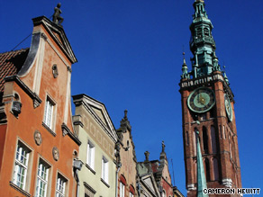 Gorgeous facades line Gdansk's main drag, echoing the city's historic importance.