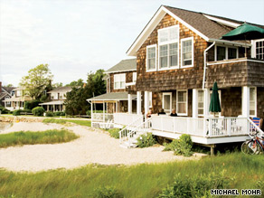 Edgewater Cottage in Orient offers three rental apartments that share a front porch overlooking the water.