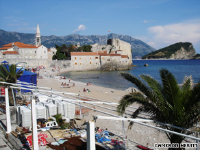 Sandy beaches on Montenegro's Budva Riviera help make it a new Mediterranean hotspot.