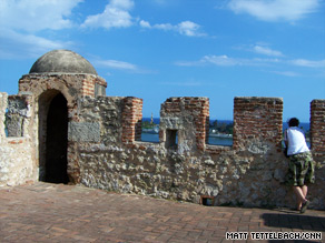 Visitors can climb the tower at Fortaleza Ozama for a view over the rooftops and out to sea.