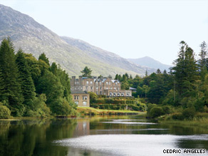 Ballynahinch Castle Hotel sits on a 450-acre estate near Galway Bay.