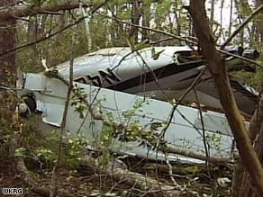 The six-seat plane crashed Sunday night in East Milton, Florida, with no one aboard, authorities say.