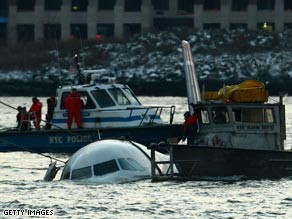 The plane entered the water Thursday afternoon following a failed takeoff, the FAA says.