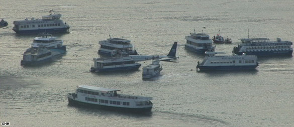 Airplane ditches into New York river