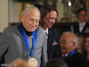 Andrew Wyeth received the National Medal of Arts from President Bush in November 2007.
