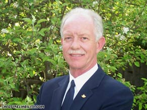 A U.S. Air Force photo shows a young Chesley Sullenberger, a former Air Force fighter pilot.