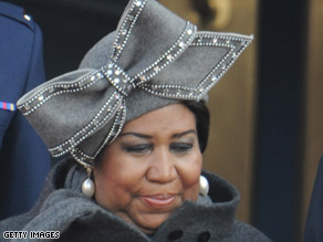 Aretha Franklin says cold weather affected her voice during her performance at the inauguration on Tuesday.