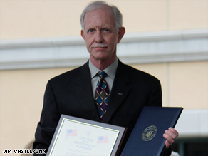 Chesley B. Sullenberger was honored Saturday with a celebration in his hometown of Danville, California.