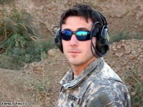 Sgt. Ryan Maseth, a 24-year-old Green Beret, died in a shower at his base in Iraq in January 2008.