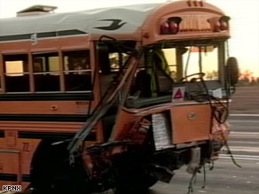 A Phoenix, Arizona, school bus crossed over several lanes of traffic, crashing into several vehicles on Wednesday.