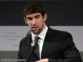 """I acted in a youthful and inappropriate way,"" swimmer Michael Phelps said in a statement released Sunday."