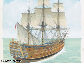 The HMS Victory sank in 1744.