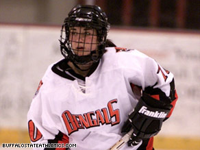 This picture of Madeline Loftus playing for Buffalo State was taken from the school's Web site.