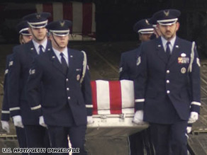 The Pentagon is reviewing a policy barring media from viewing coffins of soldiers killed in combat.