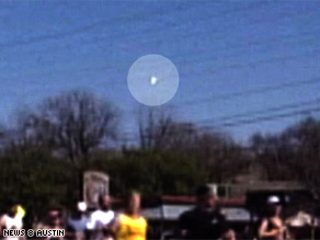 Video captured in Austin, Texas, shows a meteor-like object in the sky Sunday morning.