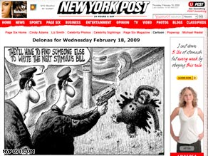 This New York Post cartoon by Sean Delonas sparked a debate over race and cartooning.